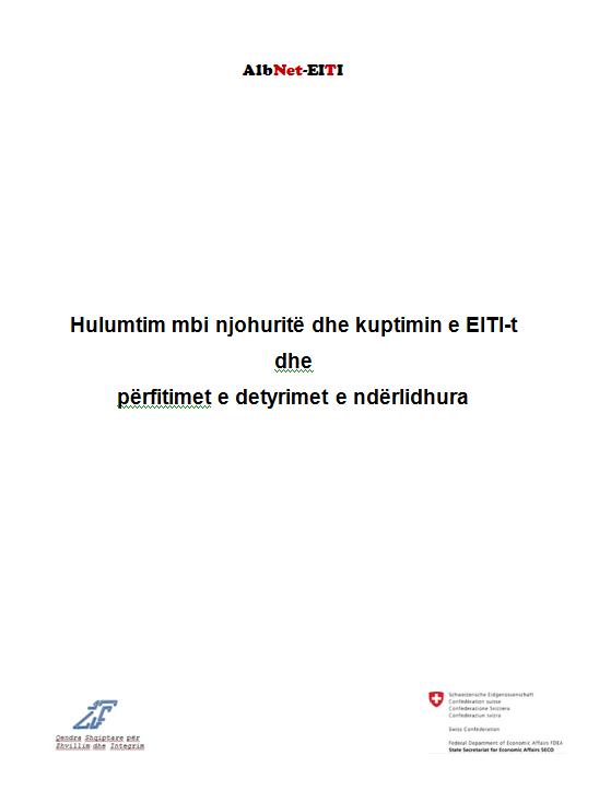 Hulumtim mbi njohuritë dhe kuptimin e EITI-t dhe përfitimet e detyrimet e ndërlidhura